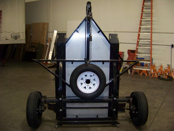Fold-Up Motorcycle Trailer