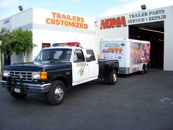 LA Sheriff Bike Safety Trailer